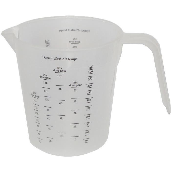 JARDIN PRATIC Doseur d'huile pour mélange 2 temps - Polypropylène