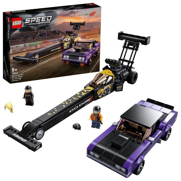 LEGO® 76904 Speed Champions Set Mopar Dodge//SRT Top Fuel Dragster & 1970 Dodge Challenger T/A