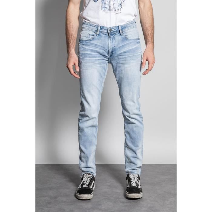 DEELUXE Jeans slim effet usé CARLOS Bleach Used