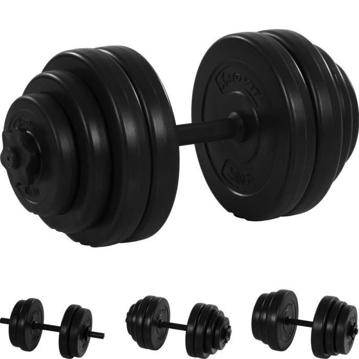 MOVIT® 1 x Haltère court de 15 kg Noir