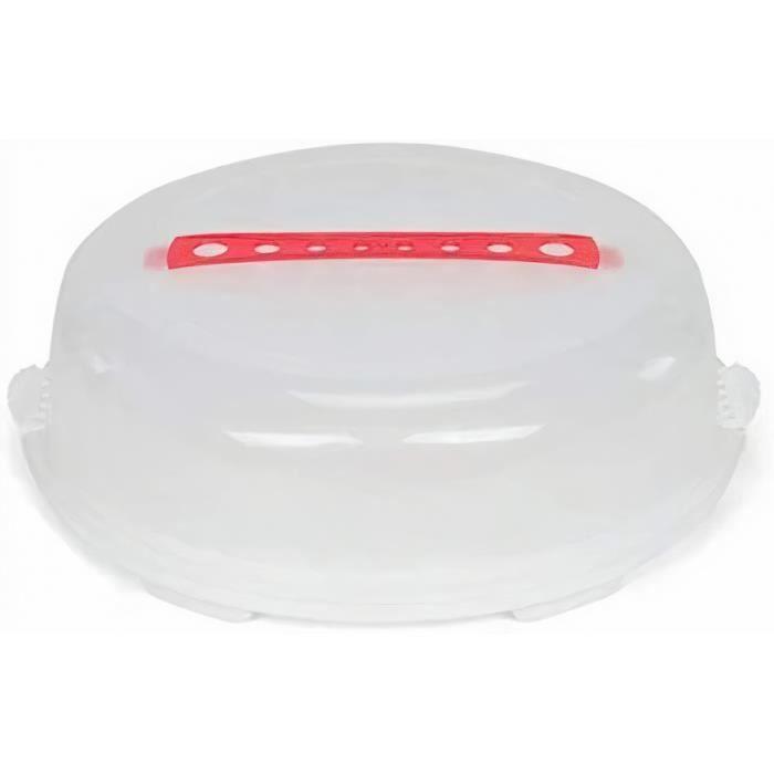 Patisse boîte à gâteaux 36 x 11 cm transaparant/rouge