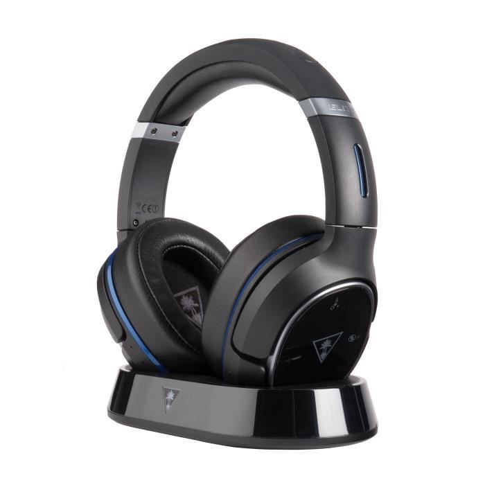 TURTLE BEACH Micro-Casque Gamer ELITE 800 - Sans Fil - Son Surround DTS Headphone:X® 7.1 - Bluetooth - PS3 / PS4
