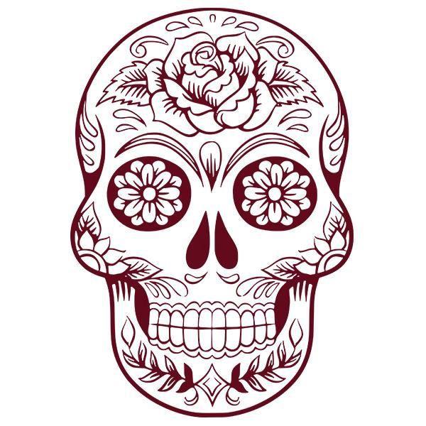 Sticker Tete De Mort Mexicaine 30x21 Cm Bordeaux Tdm007 Achat Vente Stickers Cdiscount