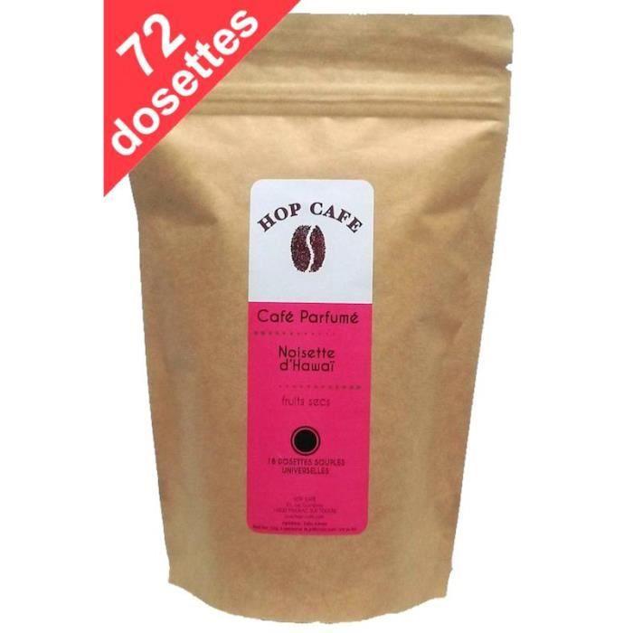 CAFÉ Pack 72 dosettes de Café aromatisé Noisette pour S