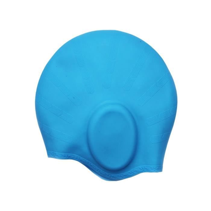 Bonnet de bain special cheveux longs for Protege oreille piscine decathlon