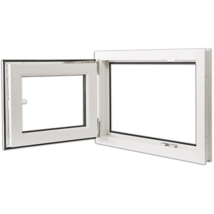 Fenetres fenetre pvc triple vitrage oscillo battante for Fenetre triple vitrage isolation phonique