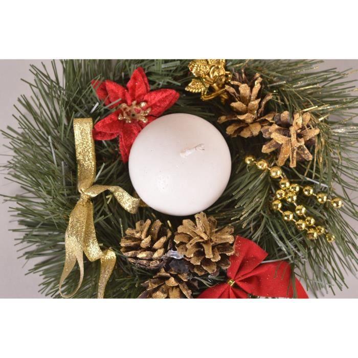 Décoration Noël fait main Déco bougie couronne originale