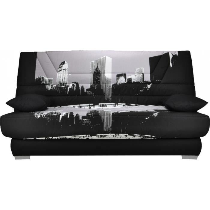 banquette clic clac tissu urban matelas 130x190 bultex mousse hr achat vente clic clac tissu. Black Bedroom Furniture Sets. Home Design Ideas