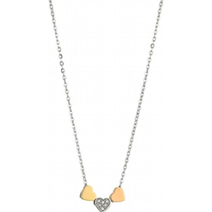 collier argent fossil