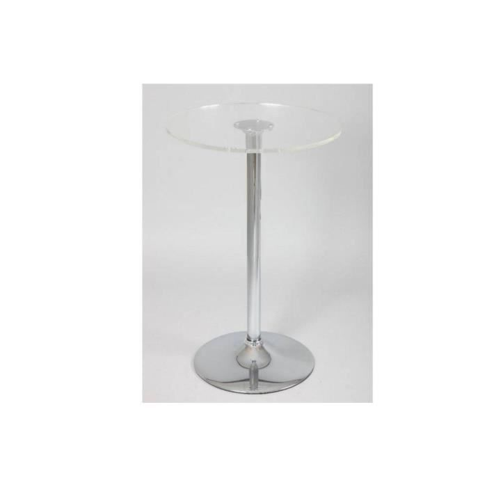 Table de bar lena en verre achat vente table a manger seule table de bar - Table de bar en verre ...