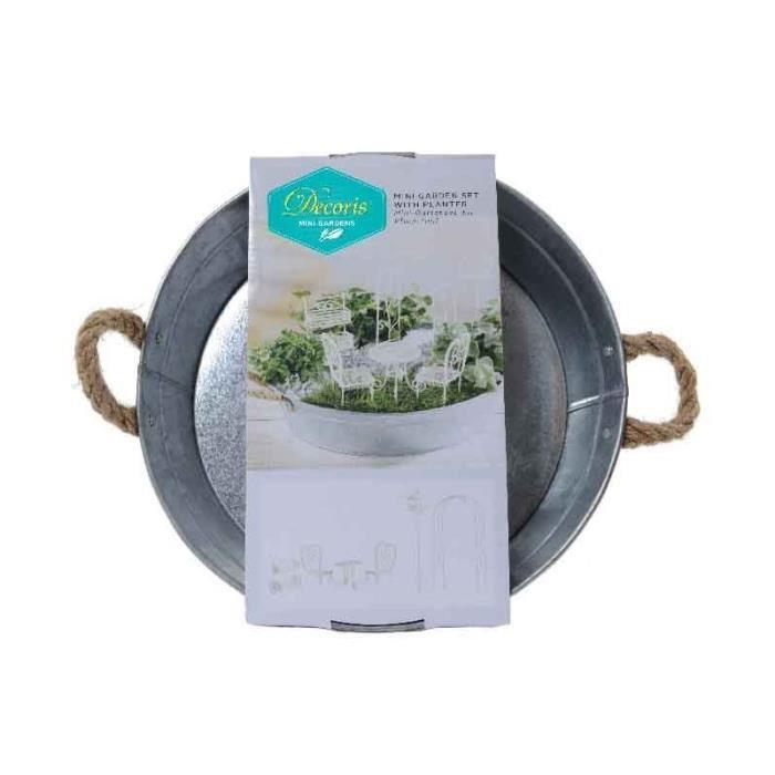 Set Mini Jardin et Pot Zinc - Achat / Vente jardin japonais ...