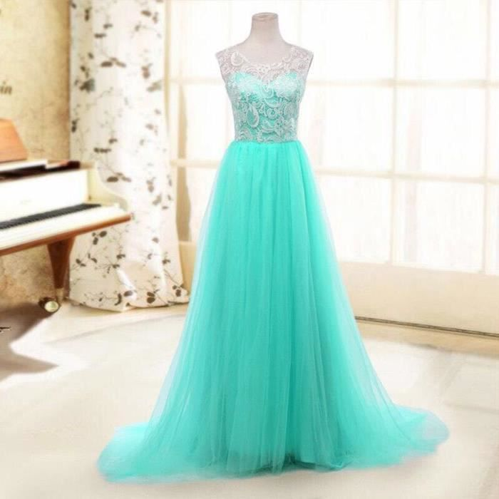 Robe De Soiree Turquoise Bleu Turquoise Achat Vente Robe Cdiscount