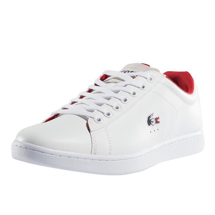 5acde78c8 Lacoste Homme Chaussures / Baskets Carnaby Evo 317 SPM Blanc Blanc ...