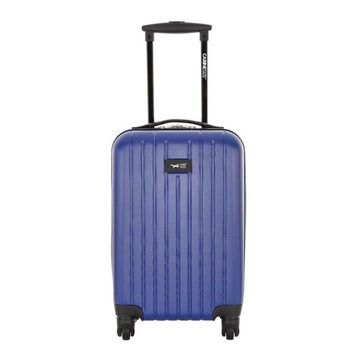 cabine size valise trolley 4 roues 45 cm arganda bleu bleu achat vente valise bagage. Black Bedroom Furniture Sets. Home Design Ideas