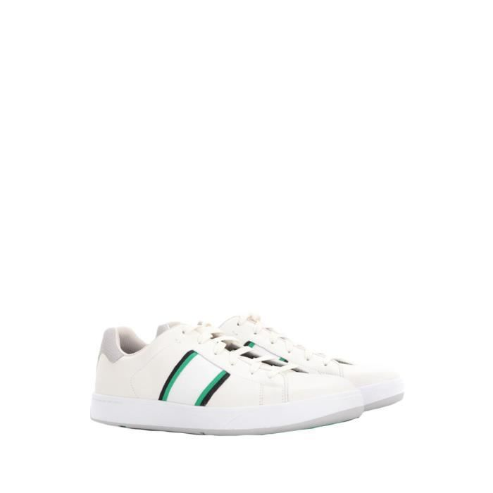 PAUL SMITH HOMME SSXDT134MLUXW1 BLANC CUIR BASKETS