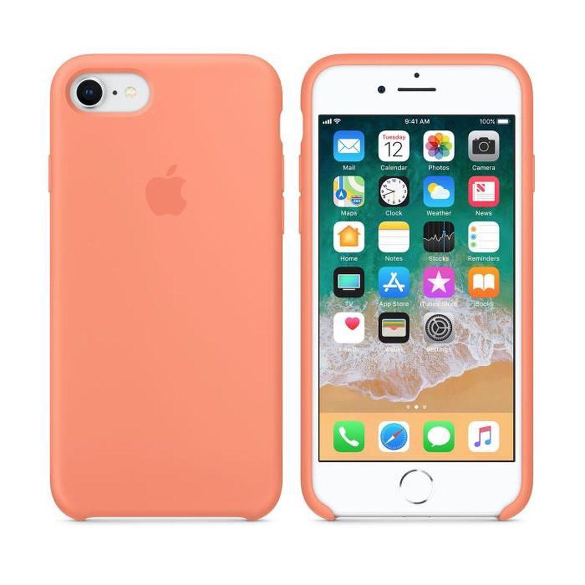APPLE Coque en silicone de protection - iPhone 7 / 8 - Pêche