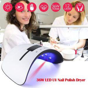 LAMPE UV MANUCURE 36W Pro Nail acrylique LED Lampe UV Gel Dryer Poli