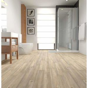 Natura Wood Lame Pvc Clipsable Chene Blond Clair 1 63m