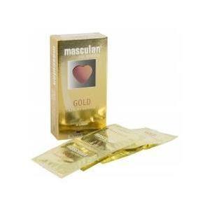 PRÉSERVATIF Préservatifs dorés Masculan - Contenance - Boit...