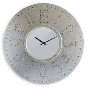 HORLOGE - PENDULE EPIC Horloge murale Ø76cm à piles grise