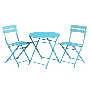 table et chaises de jardin bleu pour enfants achat. Black Bedroom Furniture Sets. Home Design Ideas