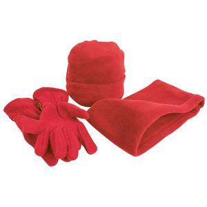 BONNET - CAGOULE Result - Ensemble bonnet, gants et tour de cou pol