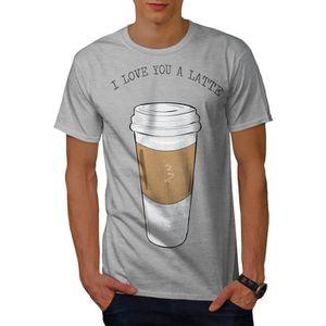 T-SHIRT je Amour Toi Latté Mode Men  T-shirt   Wellcoda