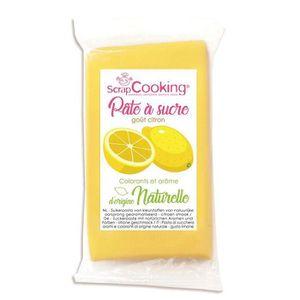 PATE A SUCRE Pâte à sucre jaune 250 g sans gluten  - arôme citr
