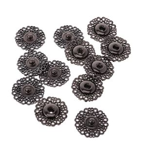 5 Set de Boutons-pression en métal fleur de PRESSE BOUTON Clous Manteau Couture Embellissement