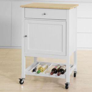 DESSERTE - BILLOT SoBuy® FKW73-WN Chariot de Service Desserte de Cui