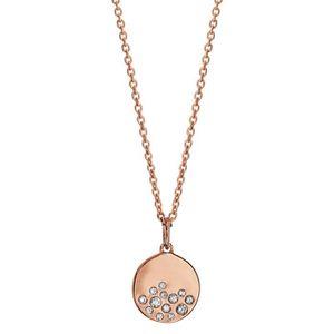 CHAINE DE COU SEULE Collier Longueur Réglable: 42 à 45 cm Rose Médaill
