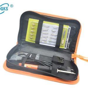PANNE DE FER A SOUDER 37 pcs Kit de Pyrogravure Température Réglable Hiv