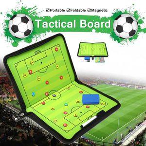 Tableau Tactique Football Magnétique Pliable Entraineur avec 24 Aimants /& Stylo