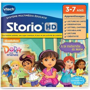 JEU CONSOLE EDUCATIVE VTECH Jeu Hd Storio - Dora And Friends