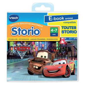 JEU CONSOLE EDUCATIVE VTECH Jeu Storio Cars 2
