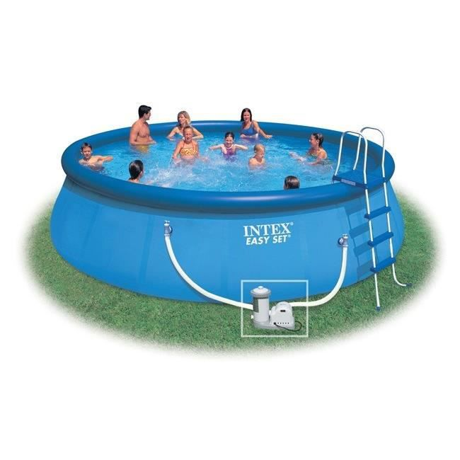 Kit piscine easy set x m intex achat vente for Piscine coque polyester soldes
