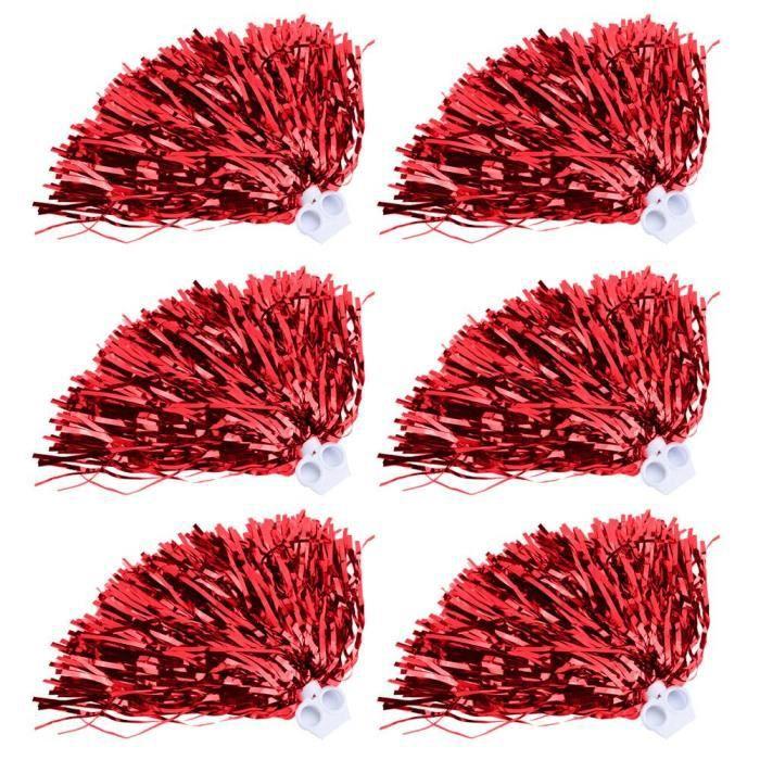 Cheerleading Pom poms Cheer Party Costume Accessoire de sport (rouge)
