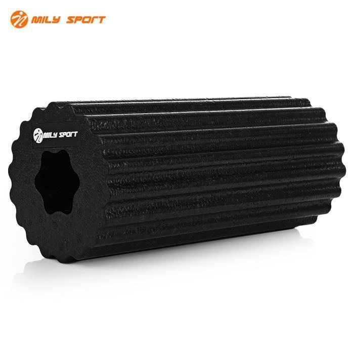 MILY SPORT Muscle pieds haute densité léger Yoga EPP rouleau de mousse pour exercices de gymnastique Physio Massage étirement noir 1