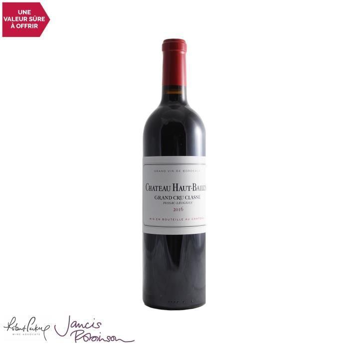 Château Haut-Bailly Rouge 2016 - 75cl - Vin Rouge de Bordeaux - Appellation AOC Pessac-Léognan - 18-20 Jancis Robinson - Cépages Cab