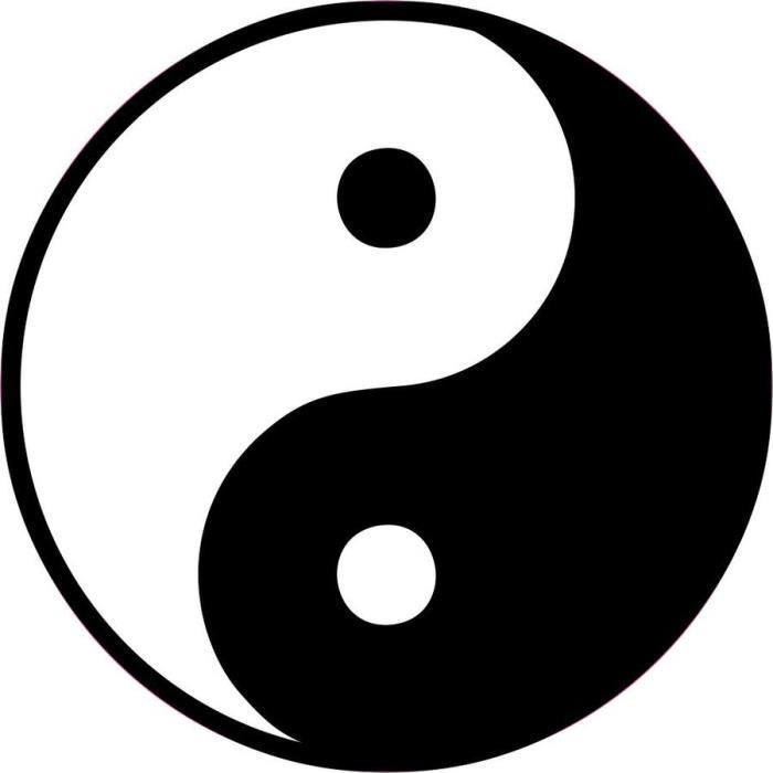 Autocollant sticker voiture moto casque yin yang