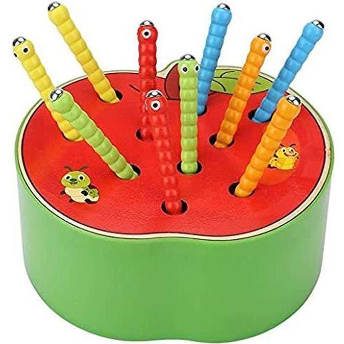 jouet en bois pour enfants, jeu montessori bebe 4 5 6 ans, bébés garçons filles capture insecte jouets jeux educatif apprentissage,