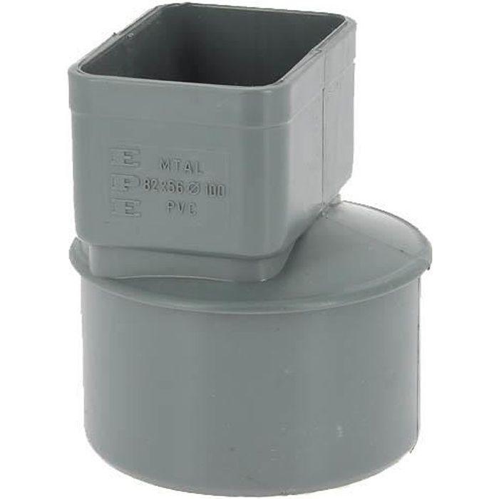 Manchon PVC O100 pour sortie tube alu 82x56mm gris MTAL
