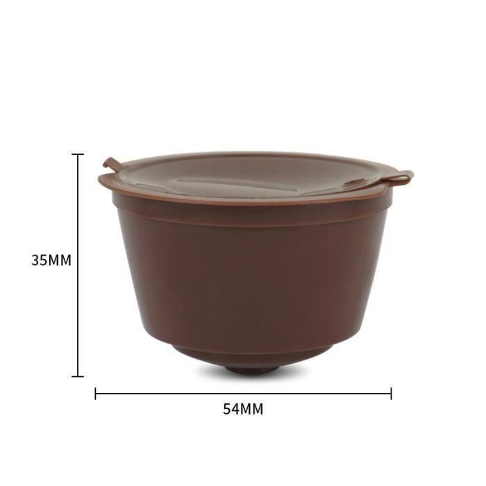Petit déjeuner - Café,3PC capsule de café nouveau plastique compatible avec les accessoires de machine nestlé - Type 1PC brown #A