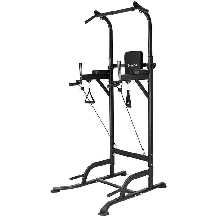[Yeehoo] Barre de traction Chaise Romaine ajustable musculation Pullup - Power Tower Barre de Traction pour Musculation à Domicile