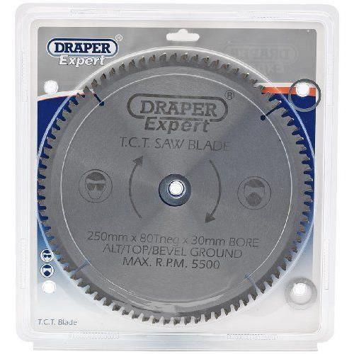 Draper 09490 Lame de scie TCT 80 dents 250 x 30 mm (Import Grande Bretagne)