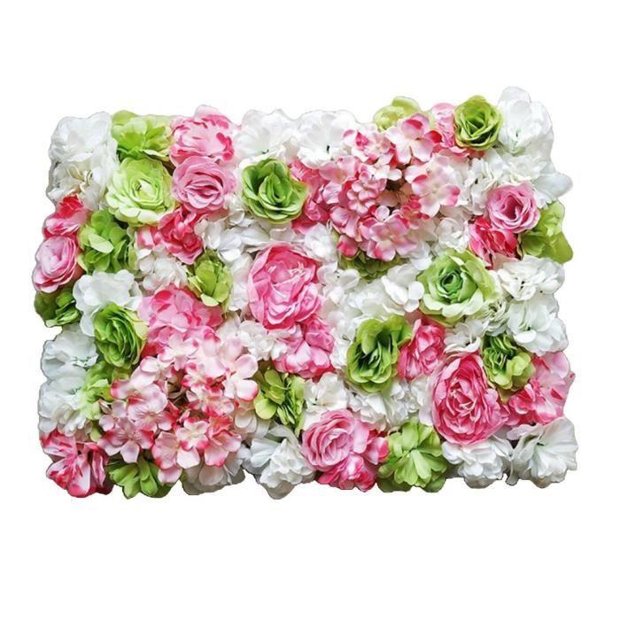 Panneaux de fleurs décoratifs haut de gamme faits à la main avec décor mural de fleurs en soie artificielle, murs de fleurs, vert