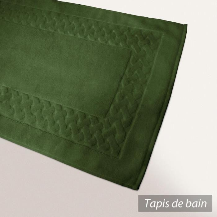 Tapis de bain 50x80 cm ROYAL CRESENT Vert Boute...