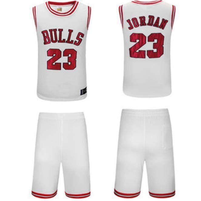 NBA Basket Maillots Maillot Bulls Jordan  23#, Artisanat de Broderie,Sweat, Respirant Costume de Sport en Plein air pour Homme