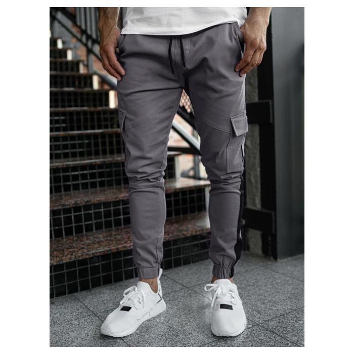 Jegging homme coton jogging pantalons de sport homme hiphop baggy gym à taille élastique masculin survêtement jegging homme