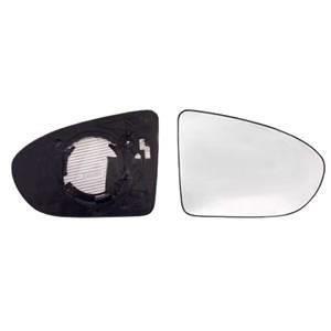 Miroir Glace rétroviseur droit pour NISSAN QASHQAI I ph.1, 2007-2010, dégivrant, asphérique.